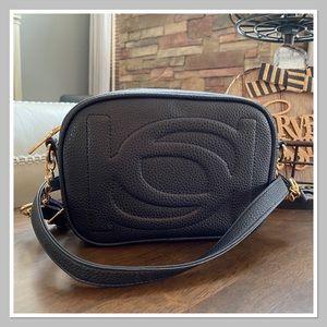 BEBE 'Poppy' Black Camera / Crossbody Bag